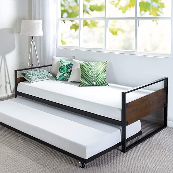 Zinus Suzanne Twin Day Beds with Trundle