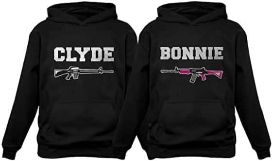 Tstars Clyde & Bonnie Couple Hoodie