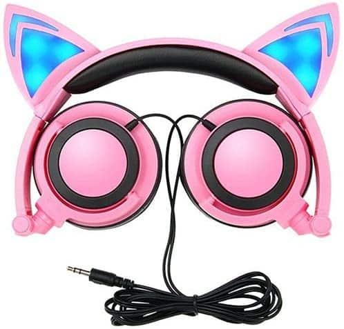 Dicekoo Cat Ear Headphones for Kids