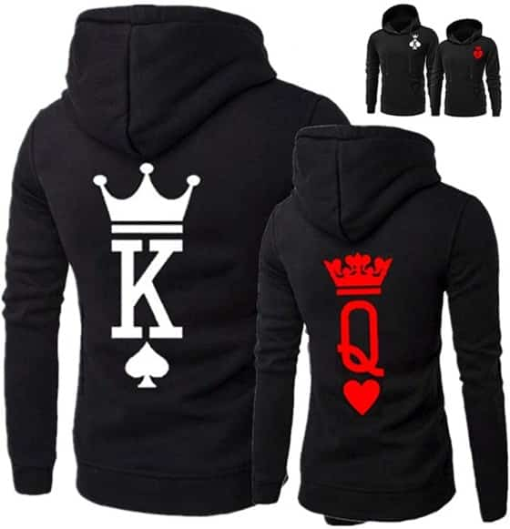YJK King Queen Couple Hoodie