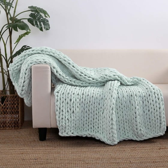 Berkshire Chunky Double Knitted Blanket