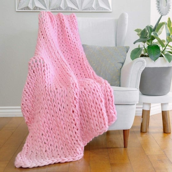 AVAFORT Handmade Luxury Chunky Throw Blanket