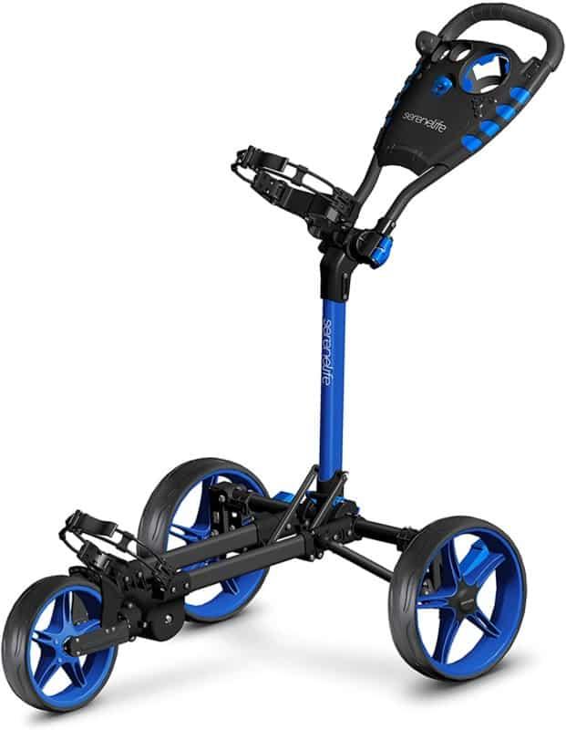 Serene Life 3 Wheel Golf Push Cart