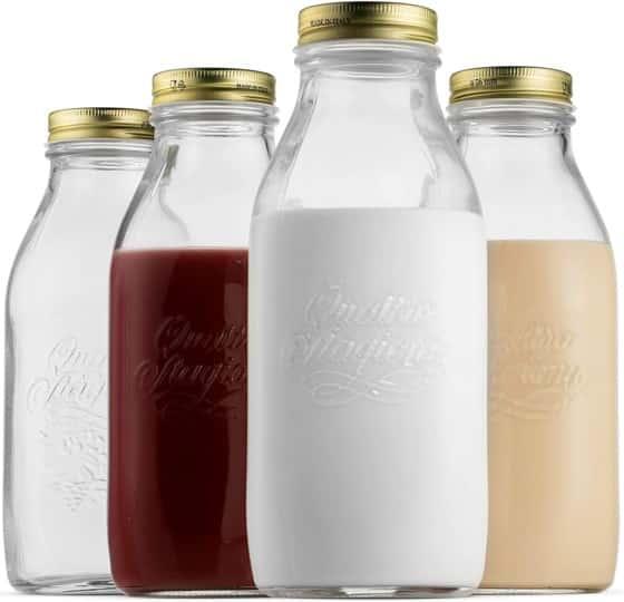 Bormioli Rocco Quattro Stagioni Glass Milk Bottle