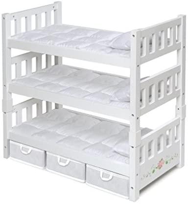 2. Badger Basket Doll Triple Bunk Bed
