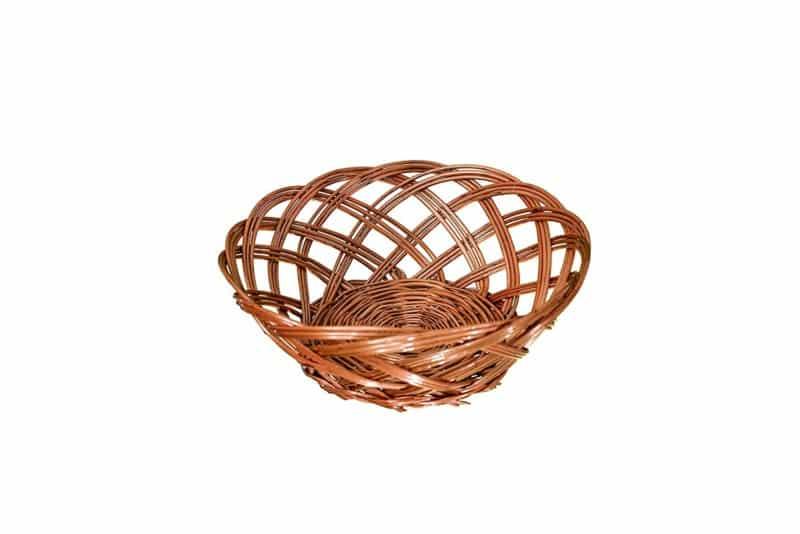 Traditional Spot Wicker Bread Serving Basket