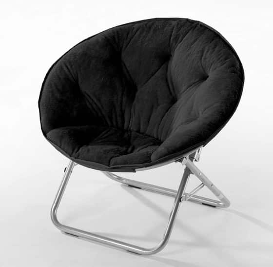 Excellent Urban Shop Faux Fur Saucer Chair with Metal Frame