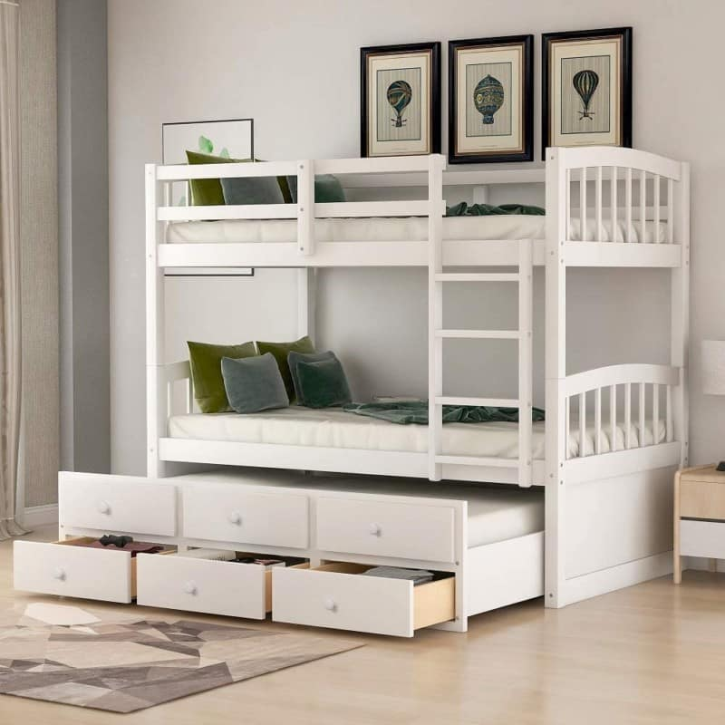3. Harper & Bright Design - Twin Over Twin Bunk Beds For Kids