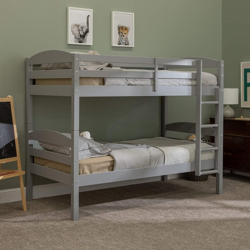 Walker Edison Furniture Solid Wood Twin Bunk- Day Beds with Trundle