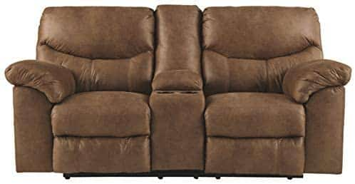 Boxberg Contemporary Faux Leather Double Reclining Power