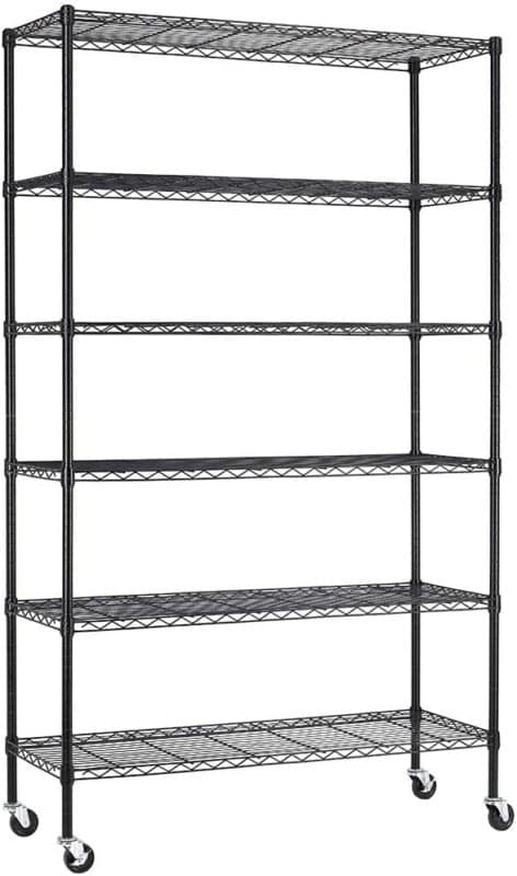 FDW 6 Tier Heavy Duty Metal Shelf