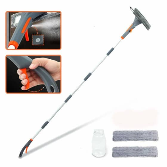 Extendable Window Cleaner with Spray