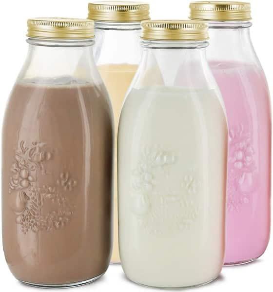 Estio Dairy Metal Lids Milk Bottles