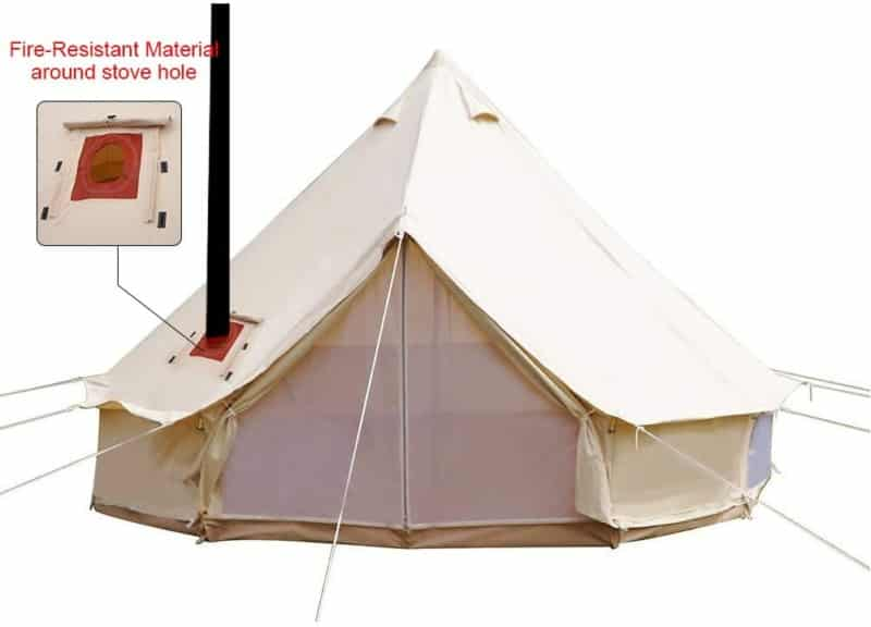 Playdo 4-Season Waterproof Cotton Canvas Cabin Tent