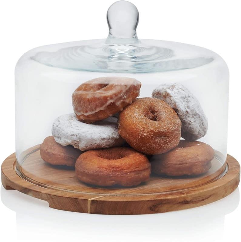4. Libbey Acaciawood Cake Stand