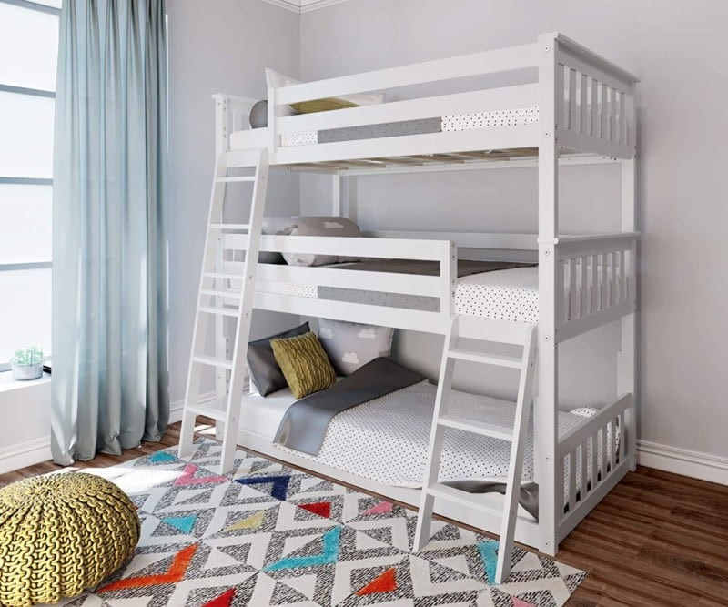 4. Max & Lily Triple Low Bunk Bed