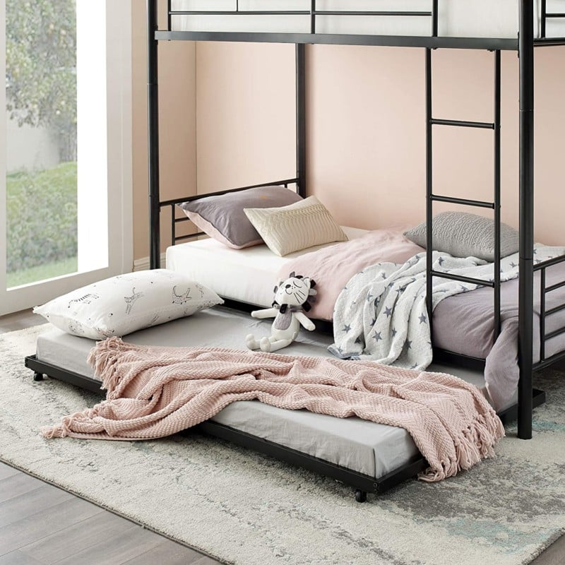 4. Walker Edison Furniture - Twin Roll Out Bunk Beds
