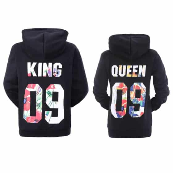 YJQ Couple Hoodies Queen and King