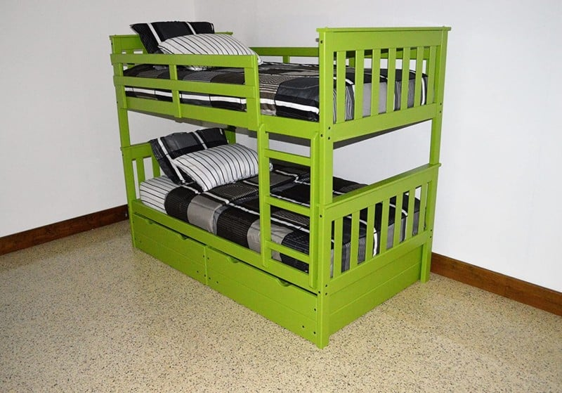 5. ASPEN TREE INTERIORS American Twin Over Twin Bunk Beds for Kids