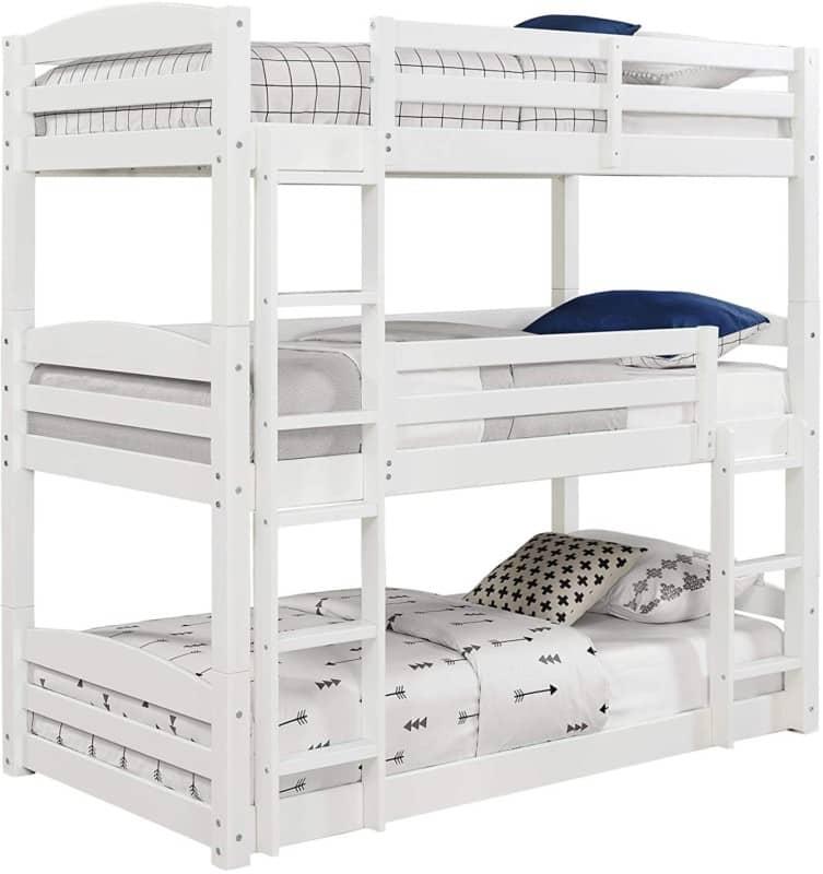 5. Dorel Living Sierra Twin Size Triple Bunk Bed