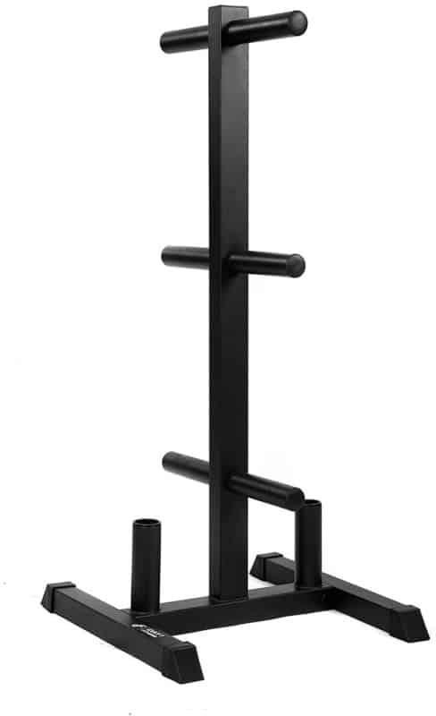 Fitness Weight Plate Rack with Bar Holders