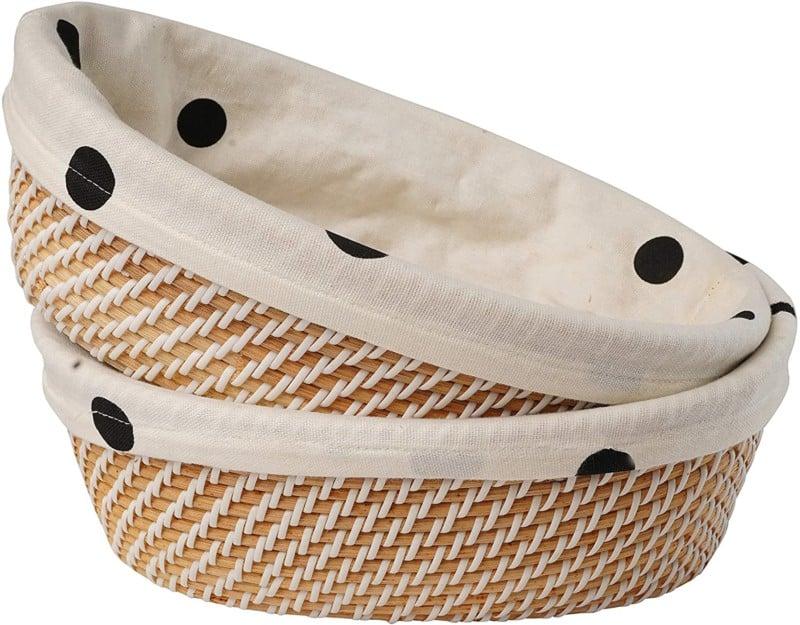 Aviboo Rattan Plastic Bread Basket