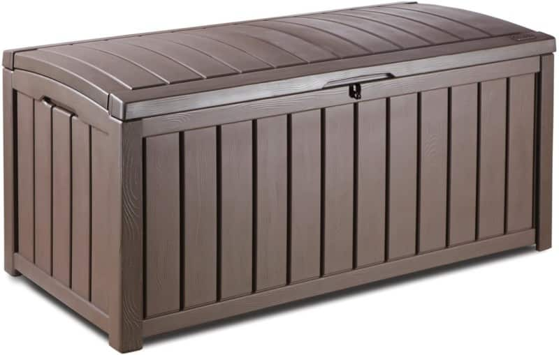2-in-1 Outdoor Large Storage Box Bench, KETER GLENWOOD