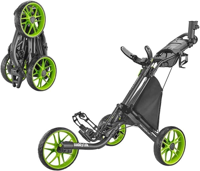 CaddyTek Lime Golf Push Cart