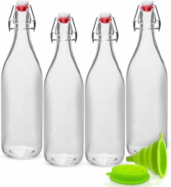 WILLDAN Giara Swing Top Glass Bottles