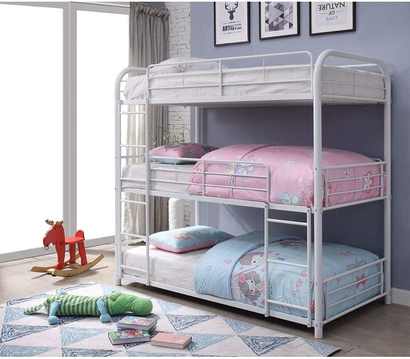 6. ACME Furniture Cairo Triple Bunk Beds