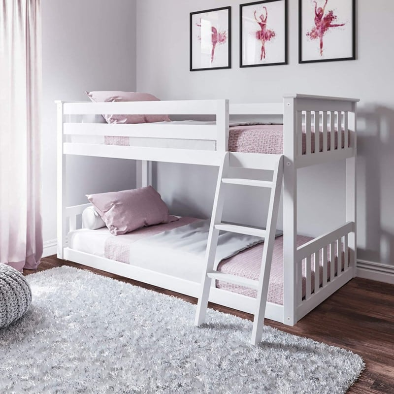 6. Max & Lily Twin Low Bunk Beds For Kids