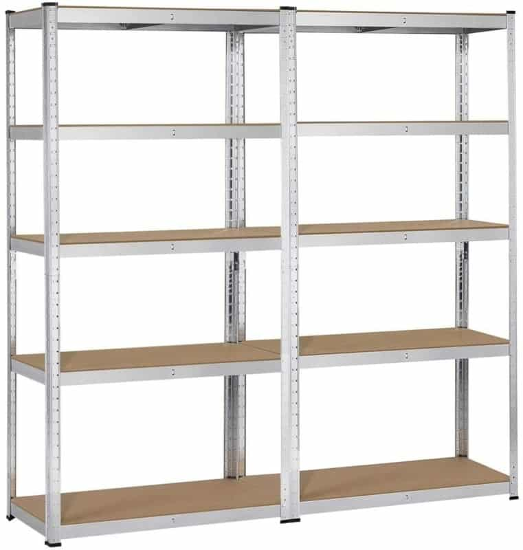 Topeakmart 5 Tier Metal Shelf Rack