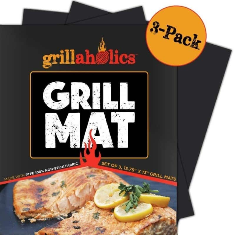 Grillaholics Set of 3 Non-Stick BBQ Grill Mats