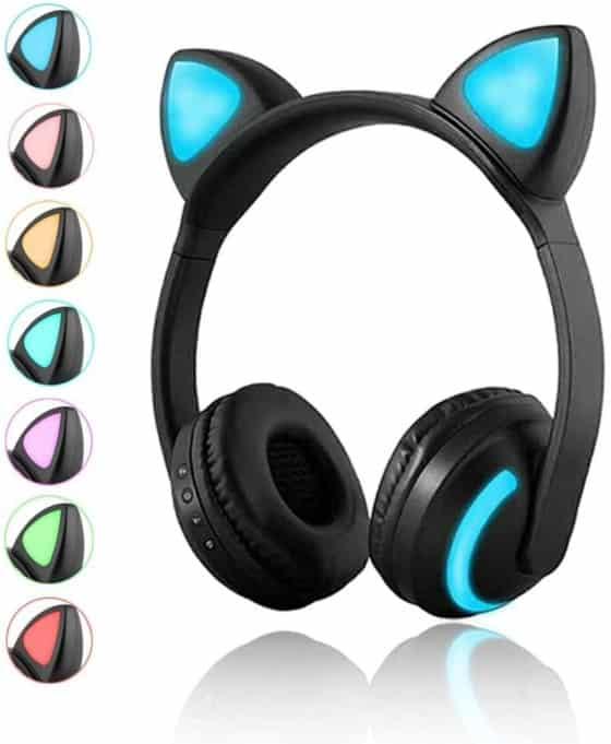 Luckyu Wireless Bluetooth Cat, Ear Headphones