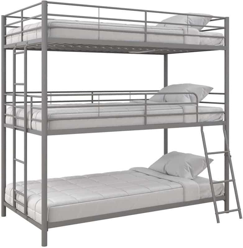 "7. Max & Finn ""Altona"" Metal Triple Bunk Bed For Kids"