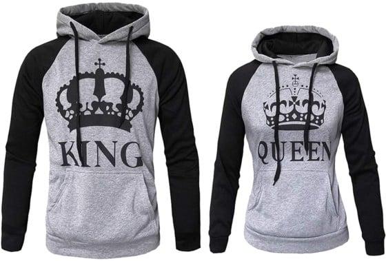 Couple Hoodies Sweatshirt Queen and King Casual