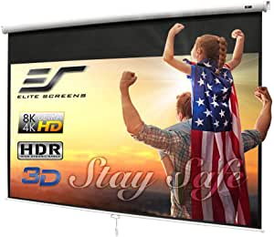 Elite Screens Manual B Series Pull-Down Projector Screen, Premium Quality, Screen Size 100 Inches, Manual Project Screen