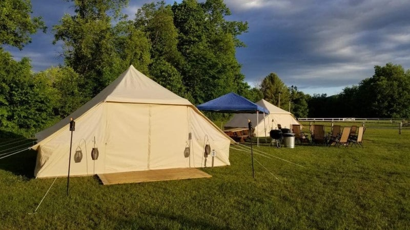 Dream House Large Spacious Outdoor Canvas 4 Season Camping Tent