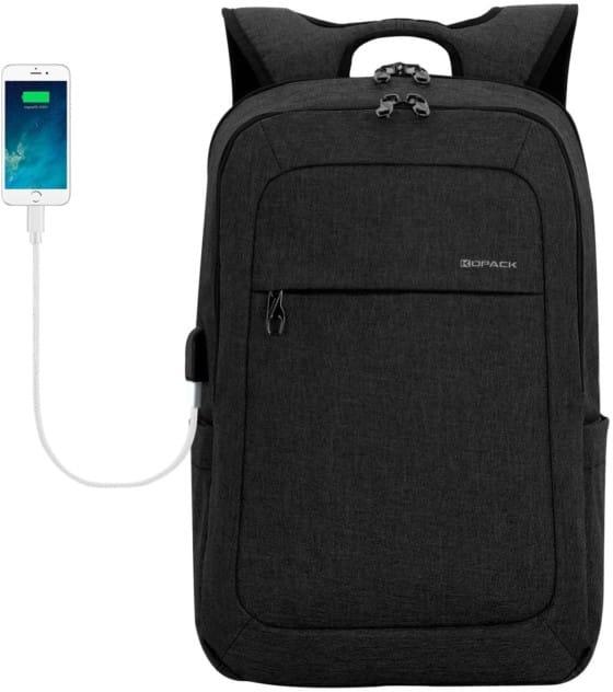 KOPACK 15.6-inch Business Waterproof Laptop Backpack with USB Port