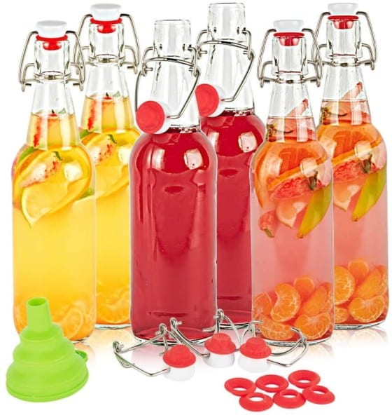 SXUDA Swing Top Glass Bottles