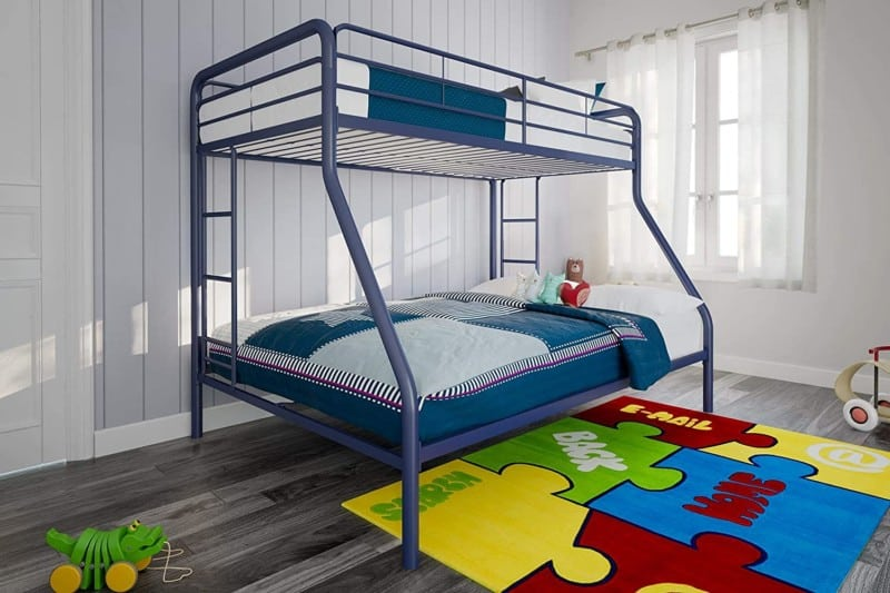 8. DHP Twin Over Full Metal Frame Bunk Beds