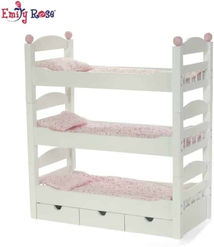 8. Emily Rose Doll Triple Bunk Bed