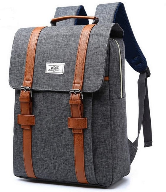 Aumaric 15-inch Waterproof Laptop Backpack for College (Gray)
