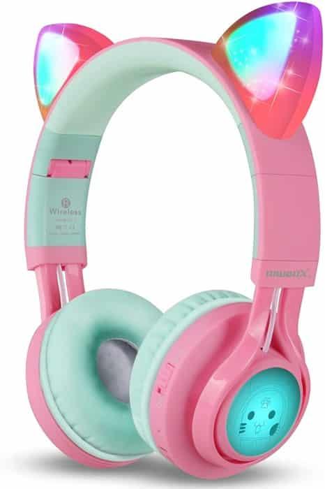 Riwbox Bluetooth CT-7 Cat Ear LED light Headphones