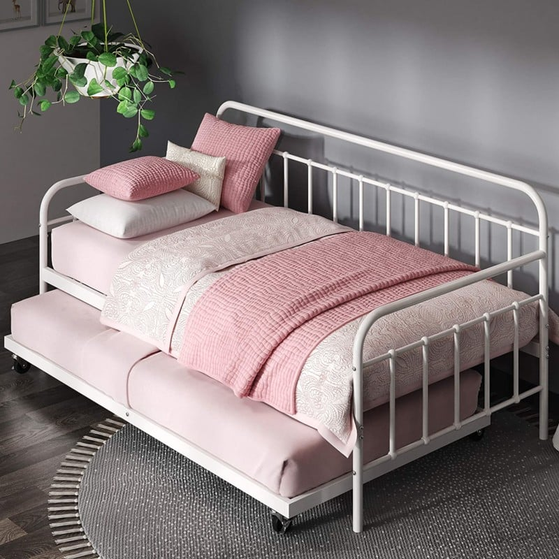 Zinus Florence Twin Day Beds with Trundle