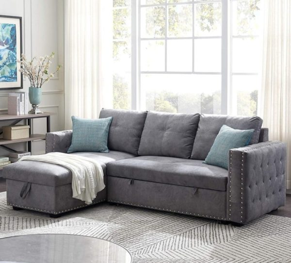 BTM Sleeper Sofa Bed with reversible Storage