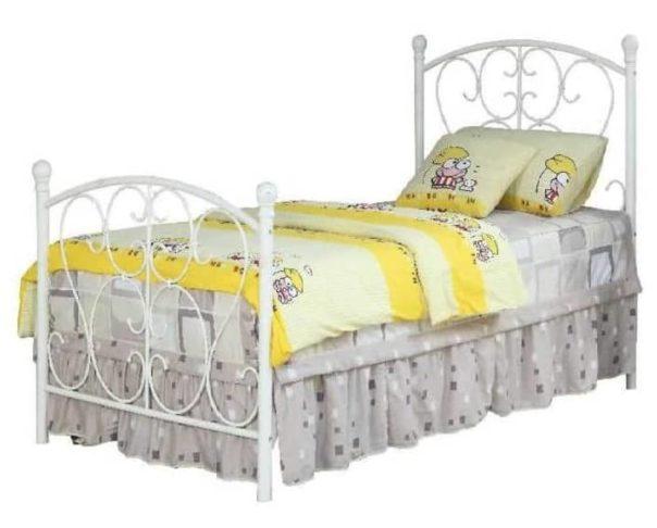 Benjara Disney Princess White Twin Bed