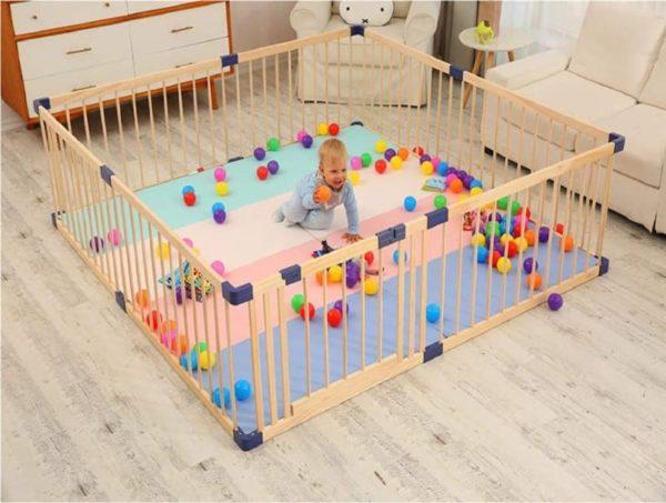 Bonrcea Portable Home Indoor Playpen for Kid
