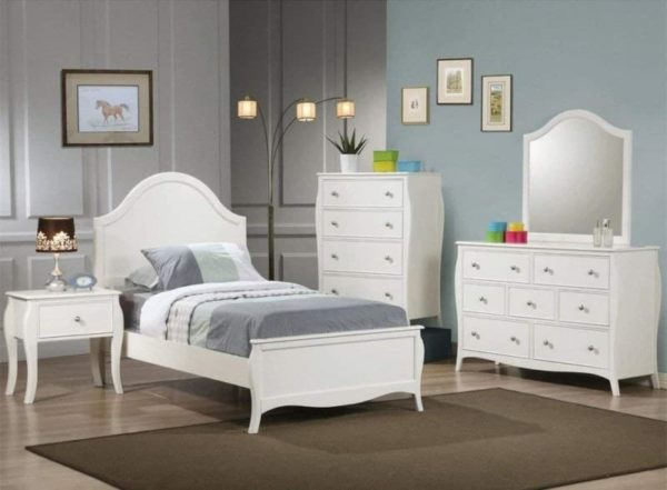 Coaster Home Furnishings Twin White Youth Bed