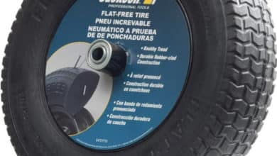 1. Jackson Flat Free Wheelbarrow Tires Size
